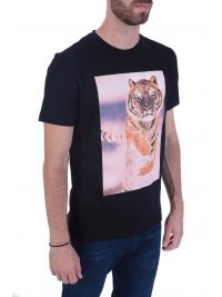 BOSS CASUAL T-SHIRT  TOMIO 4 ΜΑΥΡΟ