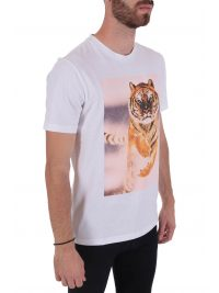 BOSS CASUAL T-SHIRT  TOMIO 4 ΛΕΥΚΟ