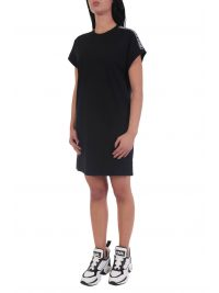 KARL LAGERFELD ΦΟΡΕΜΑ MERCERIZED JERSEY DRESS W/LOGO ΜΑΥΡΟ