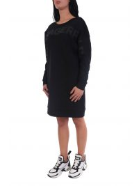 KARL LAGERFELD ΦΟΡΕΜΑ BACK V-NECK LOGO SWEAT DRESS ΜΑΥΡΟ