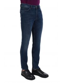 NAVY & GREEN ΠΑΝΤΕΛΟΝΙ JEANS STRETCH  REGULAR WAIST ΜΠΛΕ