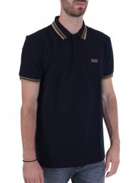 BOSS POLO PADDY REGULAR FIT BLUE GOLD CAPSULE ΜΠΛΕ