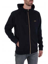 BOSS ΦΟΡΜΑ FULL ZIP HOODIE SAGGY 1 BLUE GOLD CAPSULE  ΜΠΛΕ
