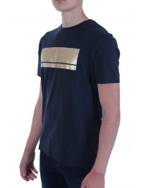 BOSS ATHLEISURE T-SHIRT TEEONIC BLUE GOLD CAPSULE ΜΠΛΕ