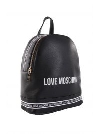 LOVE MOSCHINO ΤΣΑΝΤΑ BACKPACK LOGO ΜΑΥΡΟ