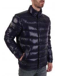 SUPERDRY ΜΠΟΥΦΑΝ HIGH SHINE QUILTED PUFFER ΜΠΛΕ