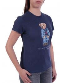 RALPH LAUREN T- SHIRT BEAR ΚΜ ΜΠΛΕ