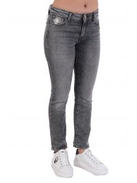 TRUSSARDI ΠΑΝΤΕΛΟΝΙ JEANS 5 POCKET KICK DENIM AUTHENTIK BLACK SMOKE ΜΑΥΡΟ