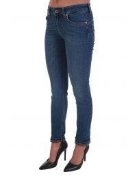 LIU-JO ΠΑΝΤΕΛΟΝΙ JEANS BOTTOM UP HIGH -PERFORMANCE FITTING ΡΕΒΕΡ STRASS ΜΠΛΕ