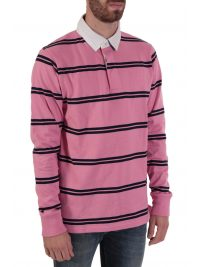 GANT POLO ΡΙΓΕ DOUBLE STRIPE HEAVY RUGGER ΡΟΖ