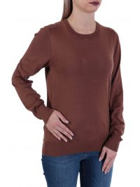 TRUSSARDI ΠΛΕΚΤΟ ΜΜ SWEATER ROUNDNECK VISCOSE STRECH REGL ΚΑΦΕ