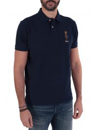 RALPH LAUREN POLO LOGO BEAR CUSTOM SLIM FIT  ΜΠΛΕ