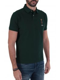 RALPH LAUREN POLO LOGO BEAR CUSTOM SLIM FIT ΠΡΑΣΙΝΟ