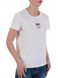 PINKO T-SHIRT BUSSOLANO 3 JERSEY ΣΤΑΜΠΑ BIRDS ΛΕΥΚΟ