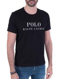 RALPH LAUREN SLEEP TOP T-SHIRT ΜΕ ΛΟΓΟΤΥΠΟ ΜΑΥΡΟ
