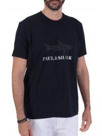 PAUL&SHARK T-SHIRT LOGO DOTS ΜΠΛΕ