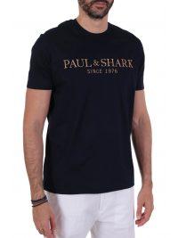 PAUL&SHARK T-SHIRT LOGO ΜΠΛΕ