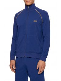 BOSS BODYWEAR ΦΟΥΤΕΡ FULLZIP MIX&MATCH JACKET Z ΡΟΥΑ  ΜΠΛΕ