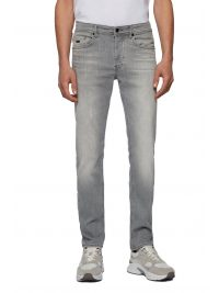 BOSS ΠΑΝΤΕΛΟΝΙ JEANS TABER BP-P TAPERED FIT ΓΚΡΙ