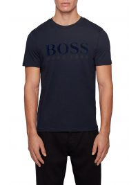 BOSS CASUAL T-SHIRT  TLOGO 21 ΜΠΛΕ