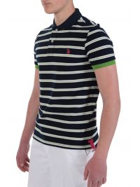 US POLO ASSN POLO STRIPED ΜΠΛΕ