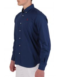 US POLO ASSN ΠΟΥΚΑΜΙΣΟ KUSTAVI REGULAR FIT BUTTON DOWN INDIGO ΜΠΛΕ