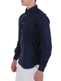 US POLO ASSN ΠΟΥΚΑΜΙΣΟ KUSTAVI REGULAR FIT BUTTON DOWN NAVY ΜΠΛΕ