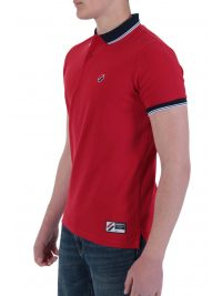 SUPERDRY POLO PIQUE SPORTSTYLE TWIN TIPPED ΚΟΚΚΙΝΟ