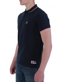 SUPERDRY POLO PIQUE SPORTSTYLE TWIN TIPPED ΜΠΛΕ