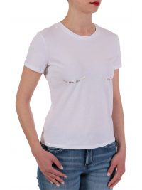 ELISABETTA FRANCHI T-SHIRT LOGO TALK LESS.ACT MORE ΛΕΥΚΟ