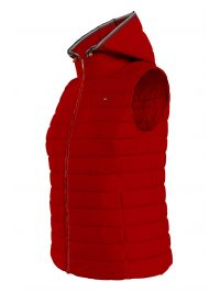 TOMMY HILFIGER AMANIKO ΜΠΟΥΦΑΝ THESS LW DOWN VEST ΚΟΥΚΟΥΛΑ KOKKINO