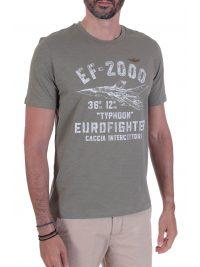 AERONAUTICA MILITARE T-SHIRT LOGO EF-2000 ΧΑΚΙ