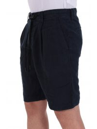 BOSS CASUAL ΒΕΡΜΟΥΔΑ CHINO SYMON-SHORTS ΛΙΝΟ RELAXED FIT ΜΠΛΕ