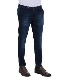 AT.P.CO ΠΑΝΤΕΛΟΝΙ JEANS LOOK AND SUPERIOR KING ΑΠΟΣΠΩΜΕΝΟ ΜΑΝΤΗΛΙ ΜΠΛΕ