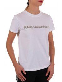 KARL LAGERFELD T-SHIRT KANDY KRUSH LOGO ΛΕΥΚΟ