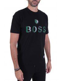 BOSS T-SHIRT TBASKET_2 NBA CAPSULE BOSTON CELTICS ΜΑΥΡΟ