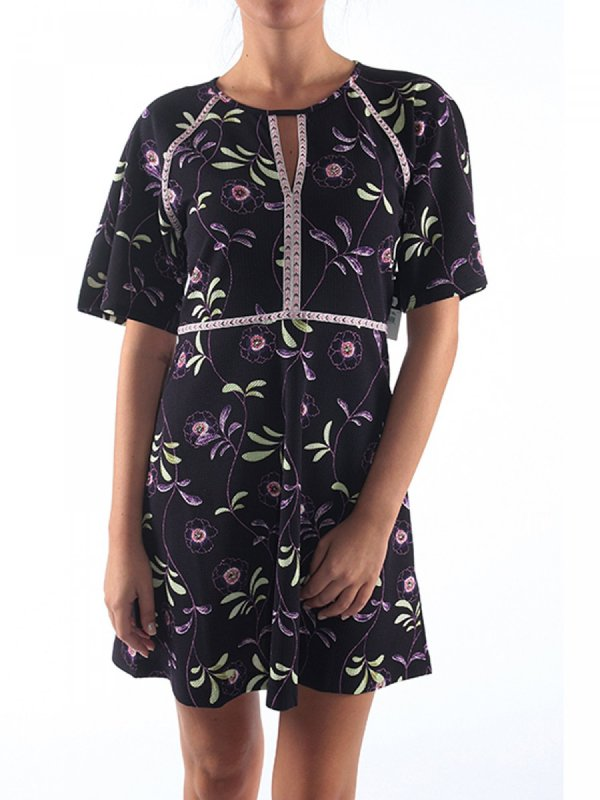 JUICY COUTURE ΦΟΡΕΜΑ ΚΜ FLORAL MIDNIGHT ΜΠΛΕ