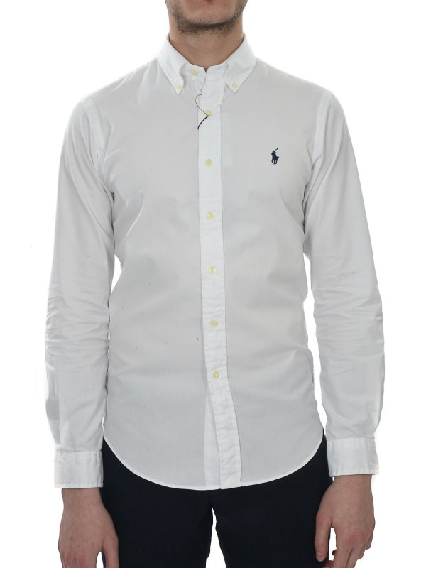 RALPH LAUREN ΠΟΥΚΑΜΙΣΟ  BUTTON DOWN SLIM FIT ΛΕΥΚΟ