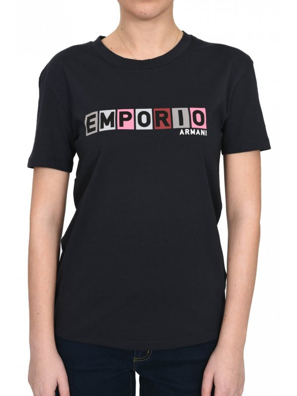 EMPORIO ARMANI T-SHIRT KM LOGO ΜΠΛΕ