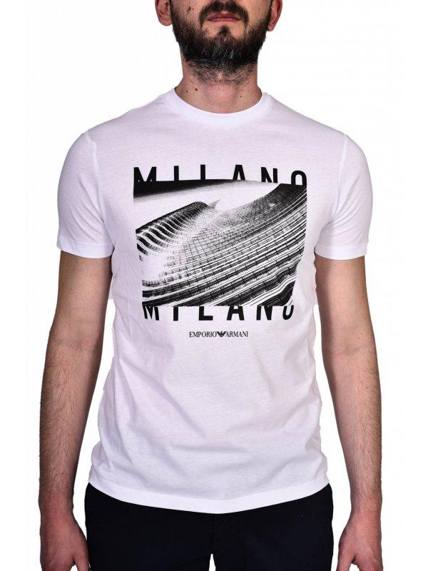 EMPORIO ARMANI T-SHIRT MILANO ΛΕΥΚΟ