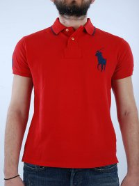 RALPH LAUREN RALPH LAUREN POLO KM CUSTOM FIT BIG PONY ΚΟΚΚΙΝΟ