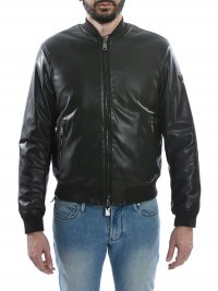 ARMANI JEANS ARMANI JEANS ΜΠΟΥΦΑΝ BOMBER ECOLEATHER ΚΑΦΕ