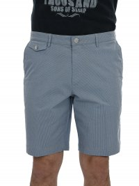 BOSS  BOSS BUSINESS ΒΕΡΜΟΥΔΑ CRIGAN-SHORT-P-W ΡΙΓΕ REGULAR FIT  ΣΙΕΛ