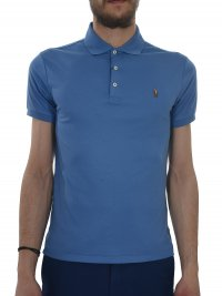 RALPH LAUREN RALPH LAUREN POLO KM SLIM FIT ΡΑΦ ΜΠΛΕ