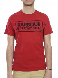 BARBOUR BARBOUR INTERNATIONAL T-SHIRT ESSENTIAL LARGE LOGO ΚΟΚΚΙΝΟ
