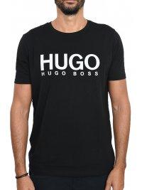 HUGO HUGO CASUAL T-SHIRT ΚΜ DOLIVE ΜΑΥΡΟ