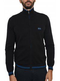 BOSS ATHLEISURE BOSS ATHLEISURE  ΠΛΕΚΤΟ FULLZIP ZOMEX  W18 ΜΑΥΡΟ