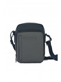 BOSS ATHLEISURE BOSS ATHLEISURE ΤΣΑΝΤΑ CROSSBODY  HYPER B NS ZIP  ΓΚΡΙ-ΜΠΛΕ