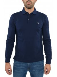 RALPH LAUREN RALPH LAUREN POLO SLIM FIT STRETCH MESH ΜΠΛΕ