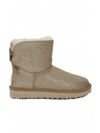 UGG UGG ΠΑΠΟΥΤΣΙΑ MINI BAILEY BOW SPARKLE ΧΡΥΣΟ